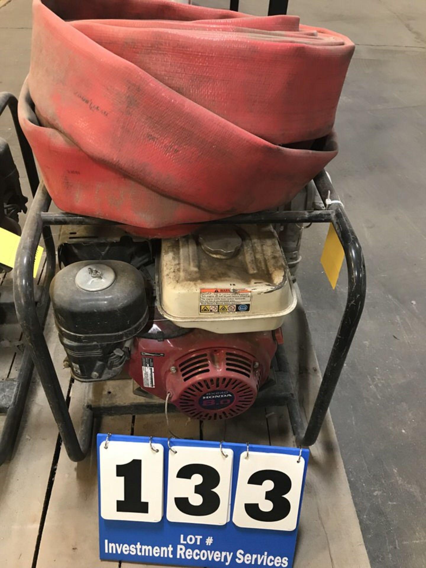 Lot 133 - Honda GX240 Pump w/ Hose (LOCATION: 3421 N SYLVANIA, FT WORTH, TX, 76111)