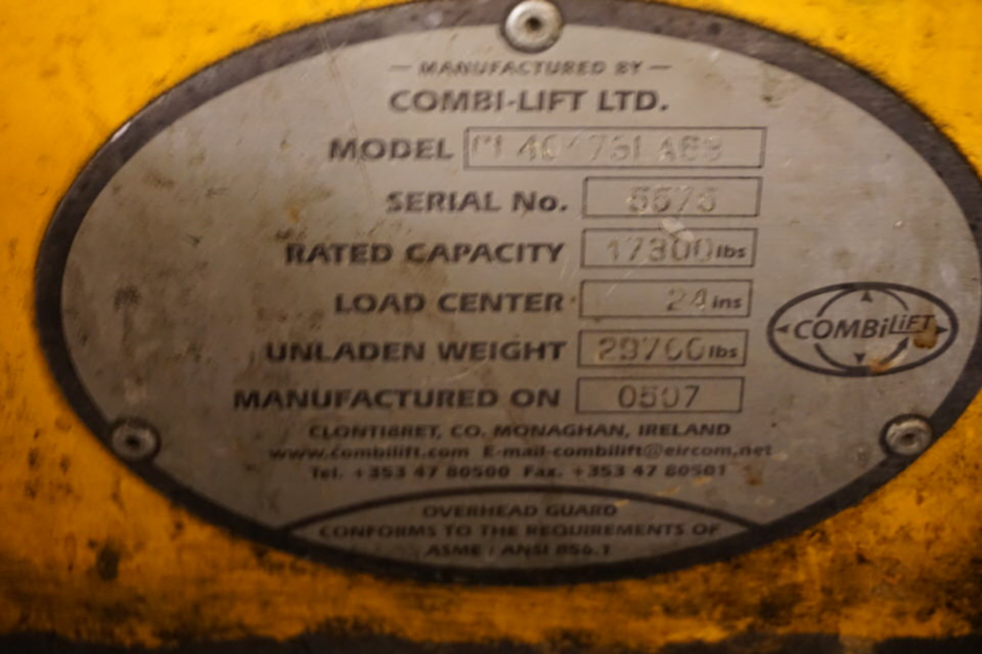 Lot 10 - (2007) COMBI-LIFT MDL. C17300