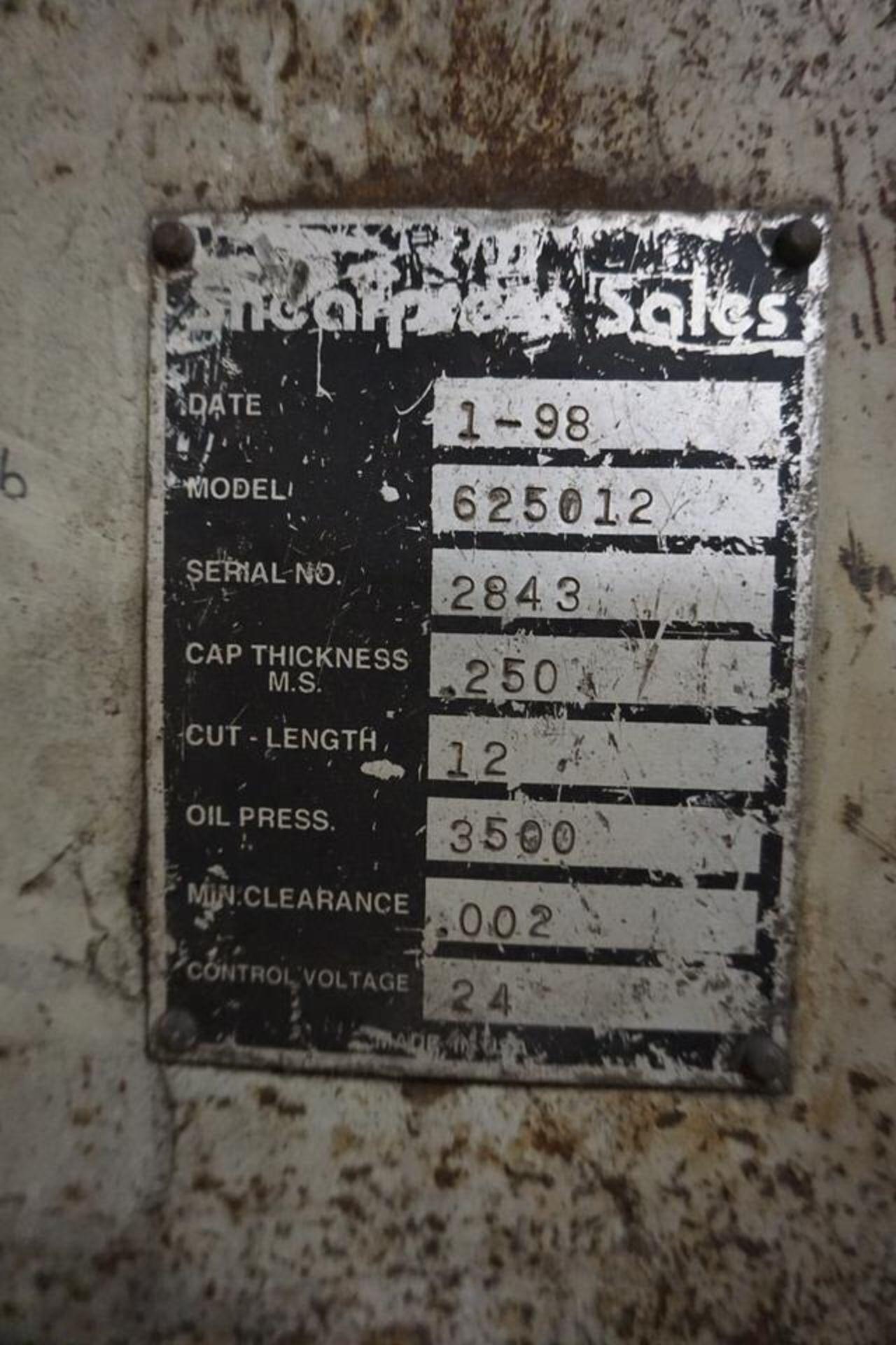 "Lot 1 - 1/4"" X 12' ACCURSHEAR 625012 Power Squaring Shear"