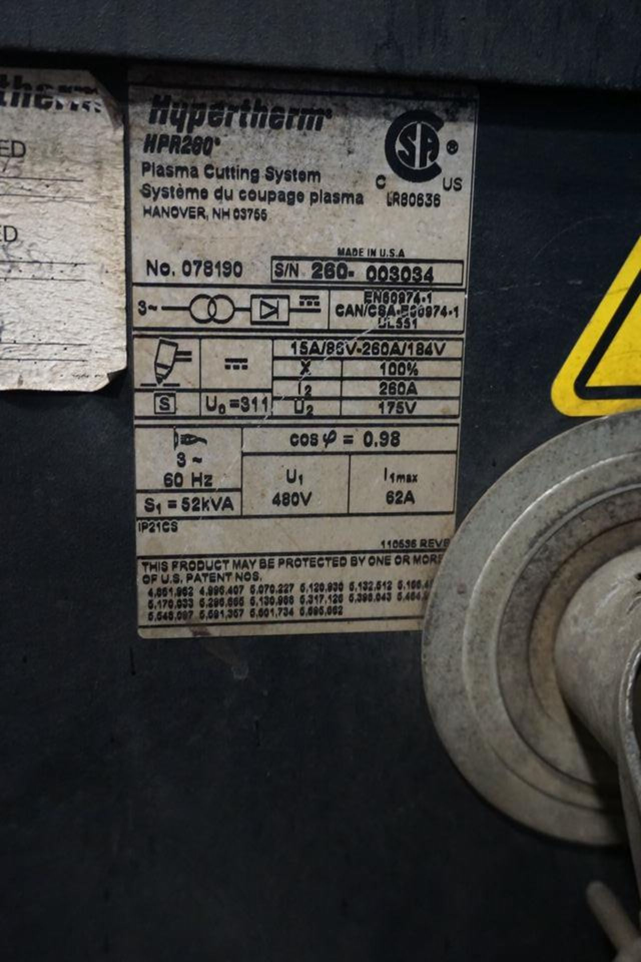 Lot 6 - (2008) RETRO SYSTEMS ULTRA HORNET 12' X 55' CNC PLASMA CUTTING SYSTEM W/ HYPERTHERM HPR280