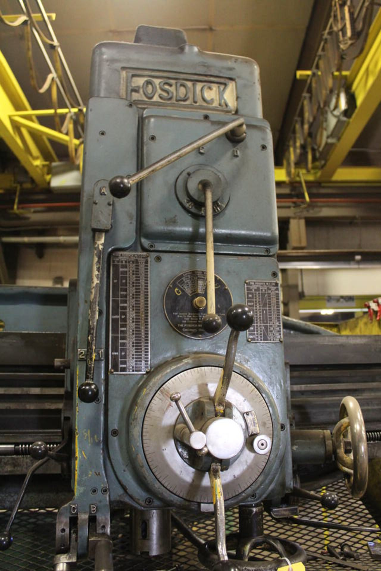 """Lot 57 - OSPICK RADIAL ARM DRILL, 4' ARM, 13"""" COLUMN W/ 24"""" X 30"""" T SLOTTED BOX TABLE (LOCATION: 4081"""