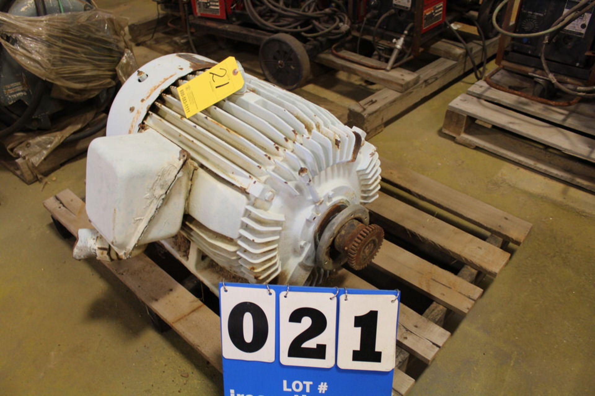 Lot 21 - LEESON 75HP MOTOR (LOCATION: 4081 EASTSIDE HWY, STEVENSVILLE, MT, 59870)