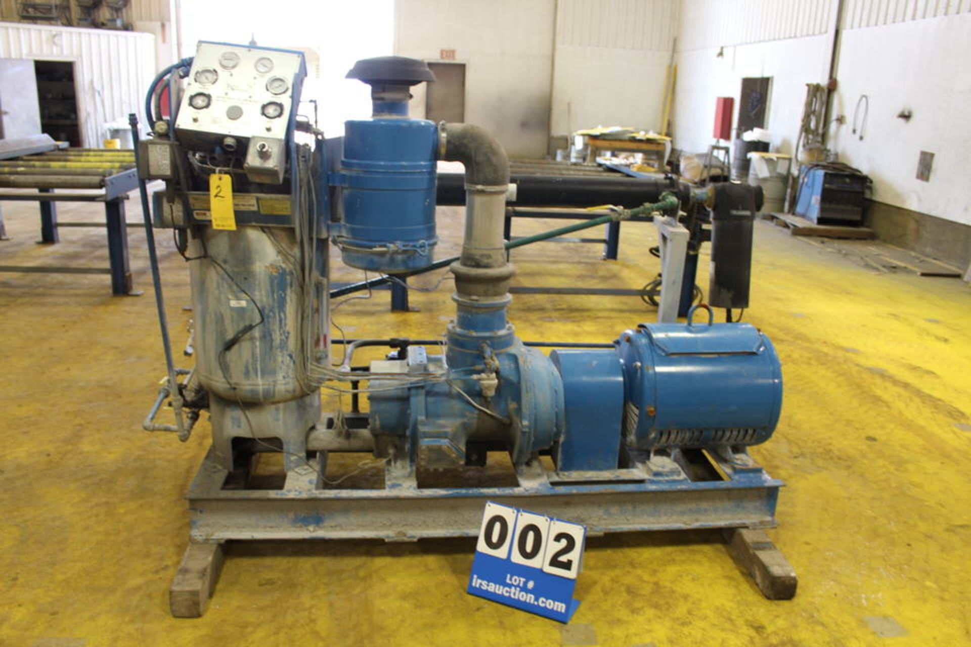 Lot 2 - QUINCY ROTARY SCREW AIR COMPRESSOR, MDL:QNW-360-D2, SKID MOUNTED, 75 HP (LOCATION: 4081 EASTSIDE