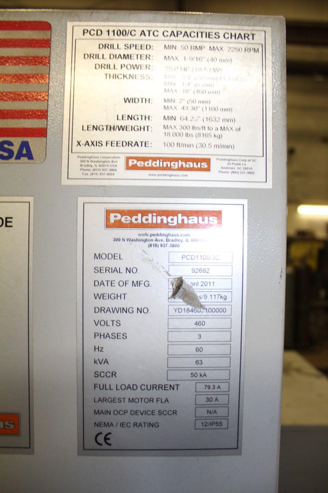 Lot 55A - 2011 PEDDINGHAUS PCD 1100 BEAMDRILL (LOCATION: 4081 EASTSIDE HWY, STEVENSVILLE, MT, 59870)