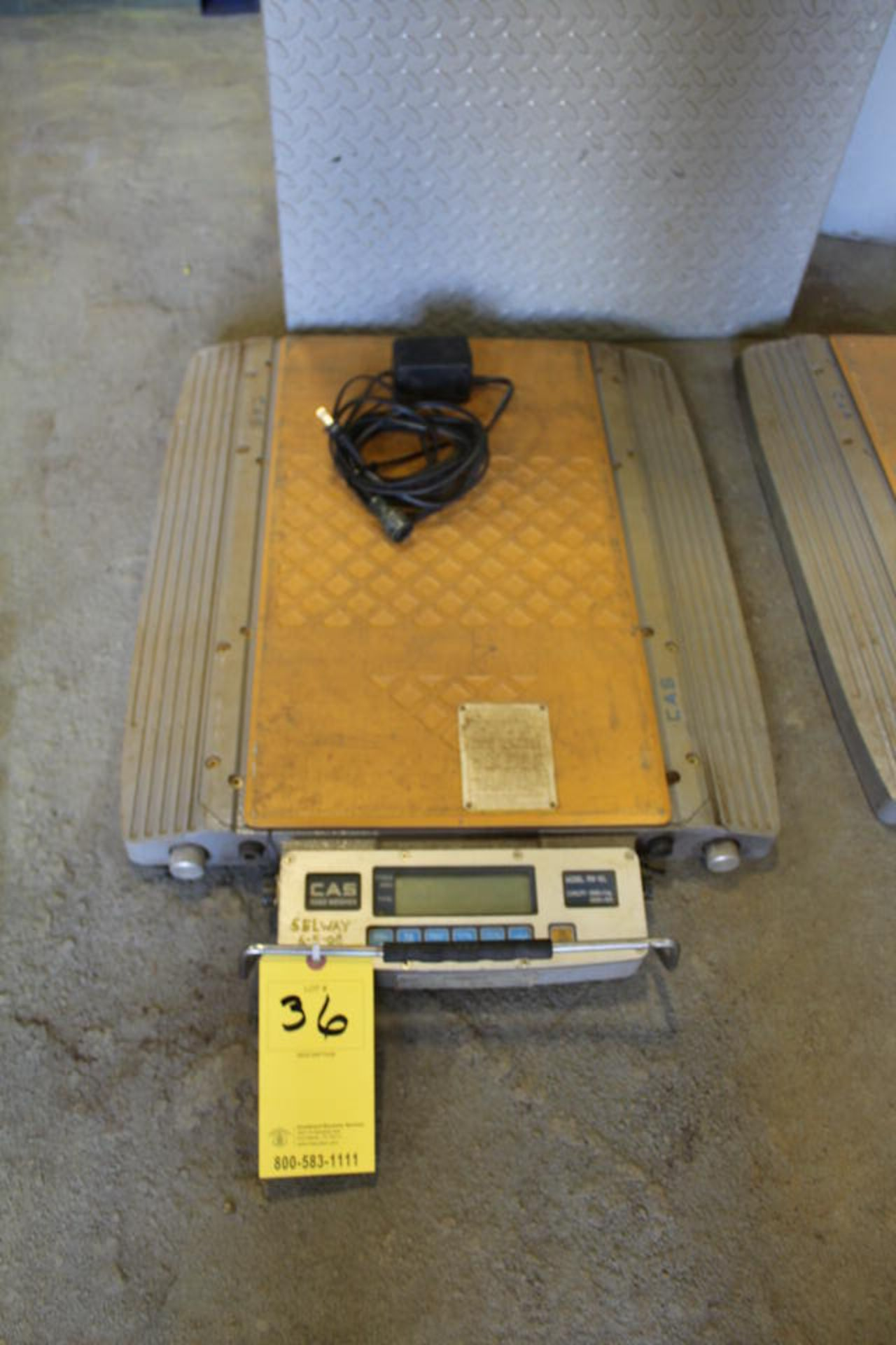 Lot 36 - CAS ROAD WEIGHER . MDL:RW10L,, 20,000 LB CAP, 2' X 1', DIGITAL (LOCATION: 4081 EASTSIDE HWY,