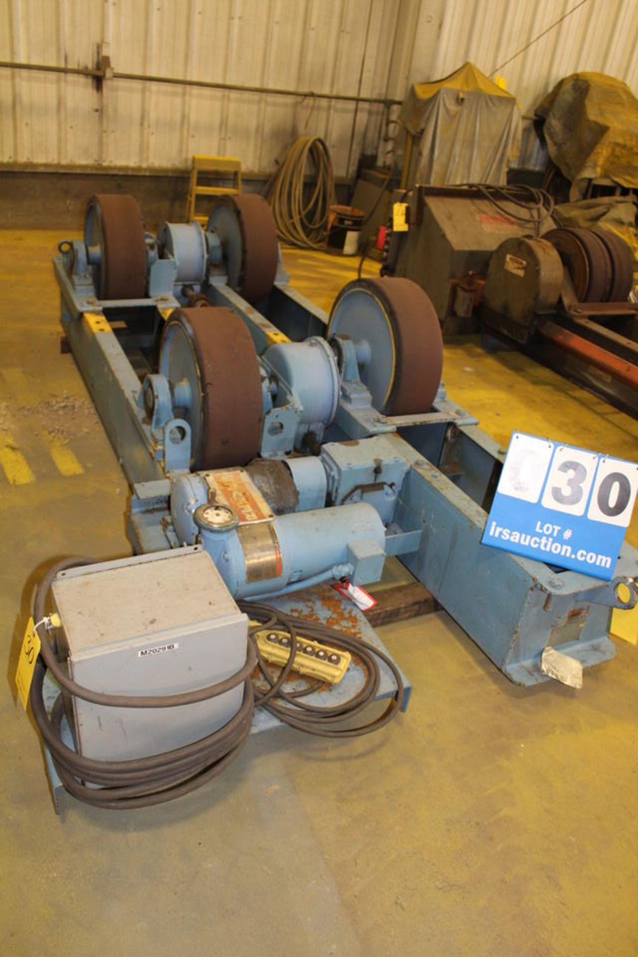 "Lot 30 - RANSOME POWER TURNING ROLL, MDL:BPRR, 45T CAP, 20"" X 6"" WHEELS W/ IDOLER, 6' (LOCATION: 4081"