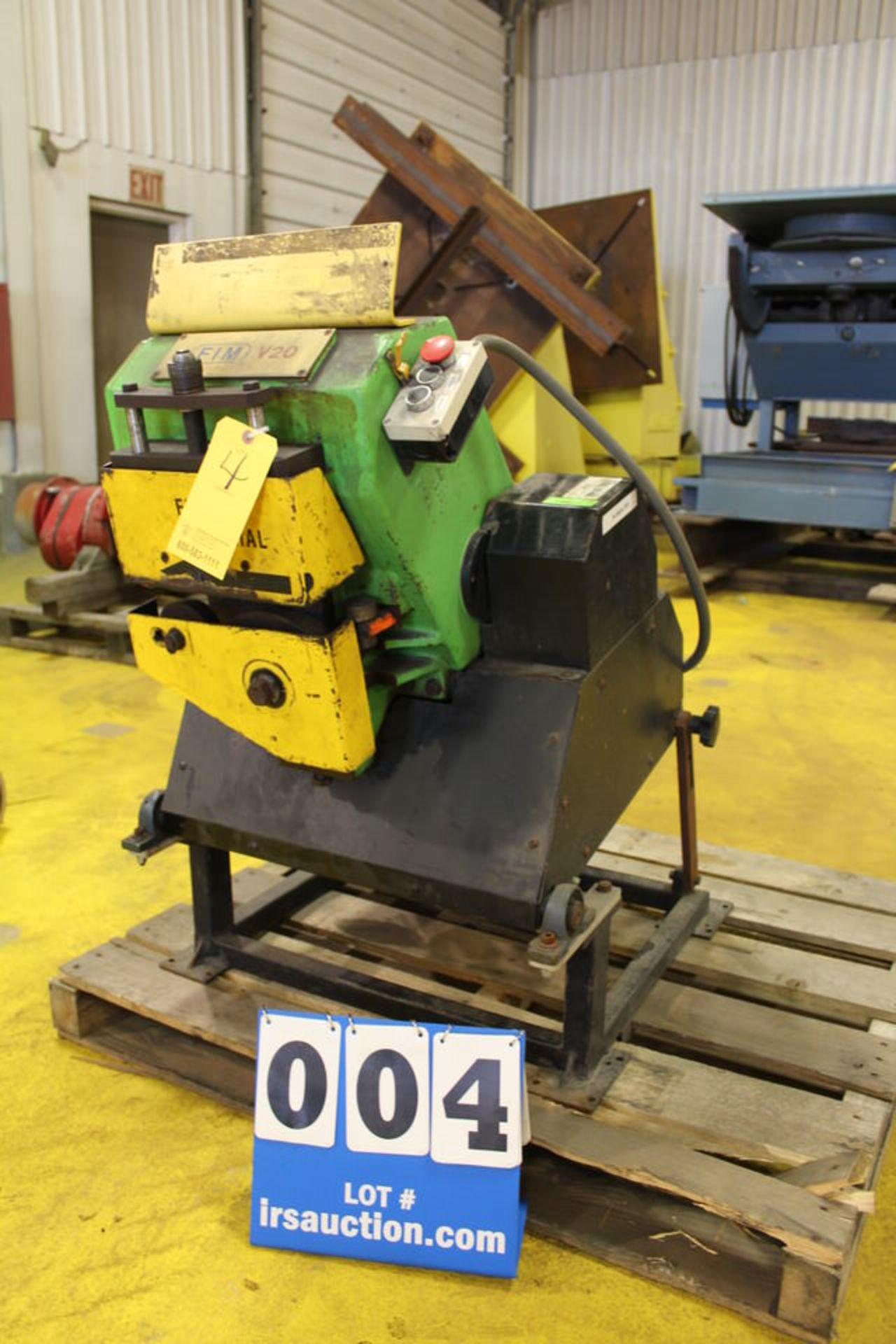 Lot 4 - FIM VERSA #20 BEVEL ER MACHINE, DOM:1996 (LOCATION: 4081 EASTSIDE HWY, STEVENSVILLE, MT, 59870)