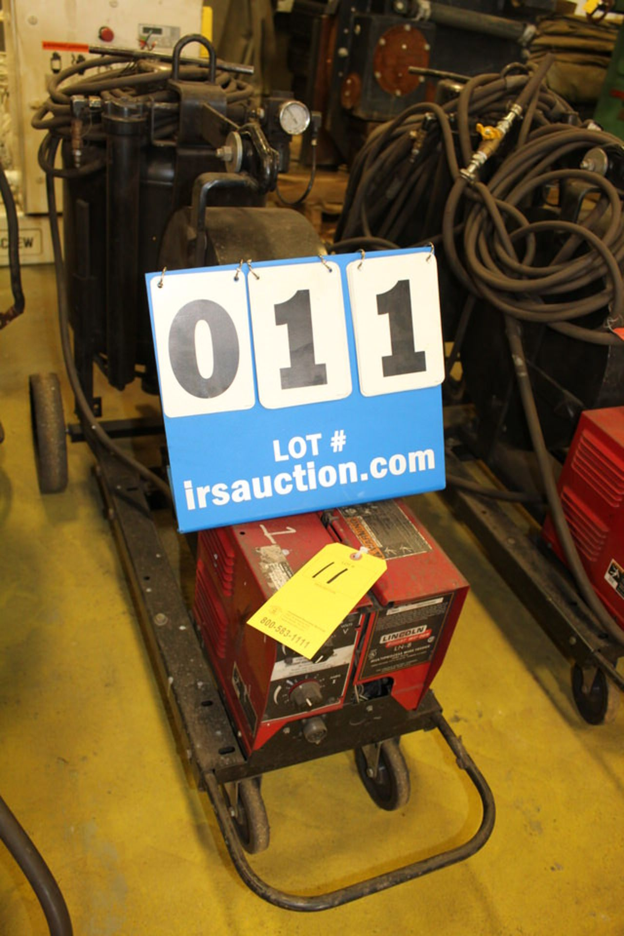 Lot 11 - LINCOLN LN8 WIRE FEEDER W/ POT, HANDHELD SUB ARCS (LOCATION: 4081 EASTSIDE HWY, STEVENSVILLE, MT,
