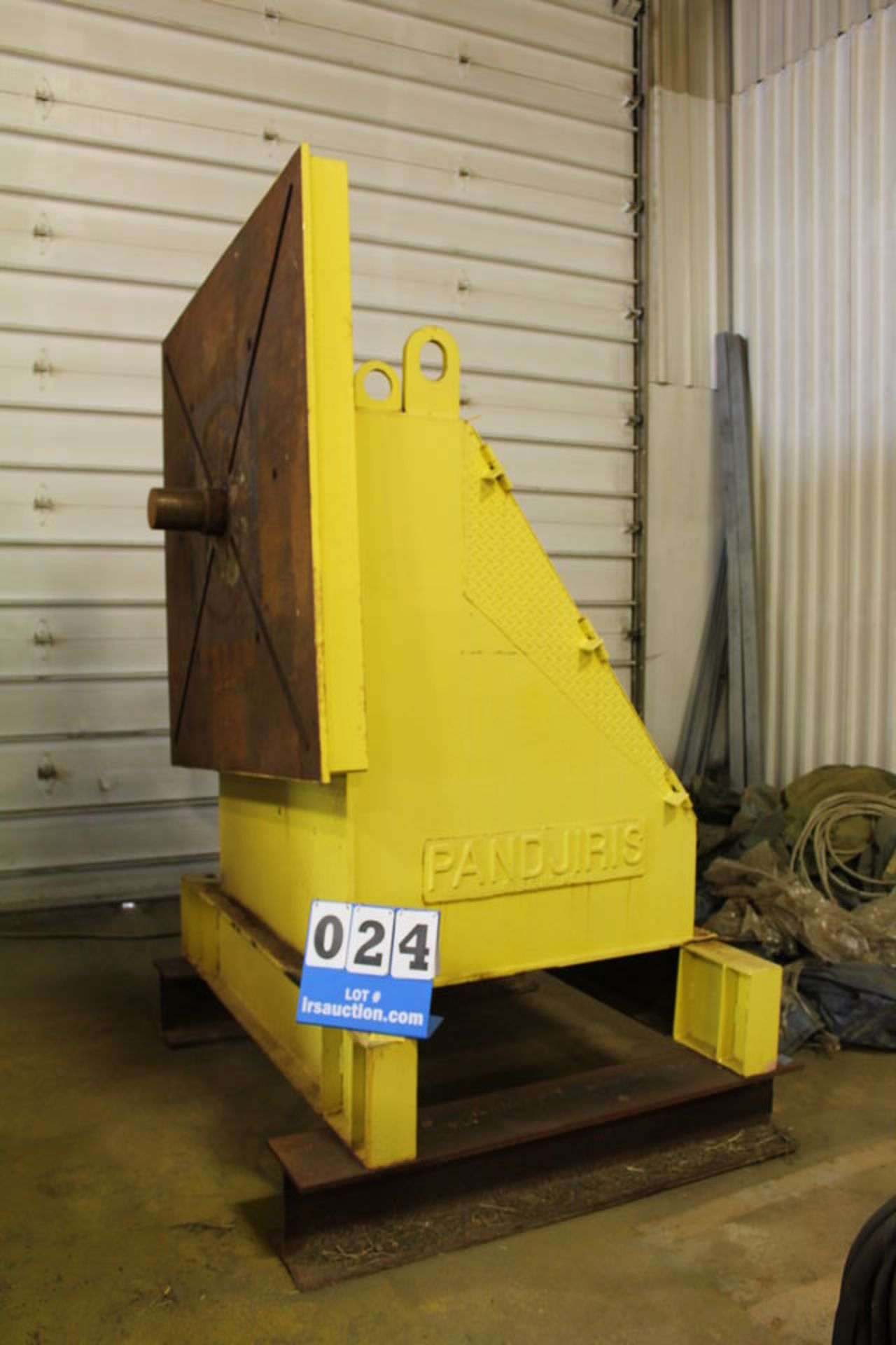 Lot 24 - PANJIRIS WELDING POSITIONER, 5' X 5' FACEPLATE, MDL:N/A, CAP: N/A, VERTICAL ONLY (LOCATION: 4081