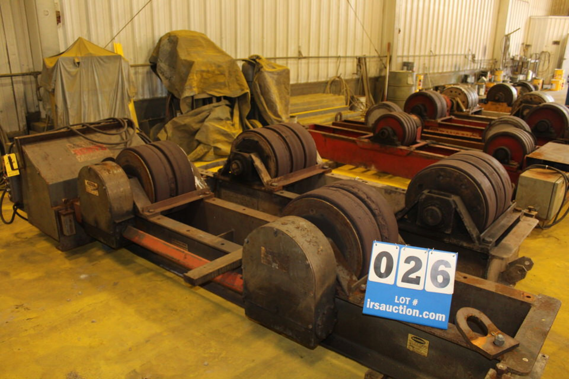 "Lot 26 - PRESTON EATON POWER TURNING ROLL, 20"" X 12"" WHEELS W/ IDOLER, 8' (LOCATION: 4081 EASTSIDE HWY,"