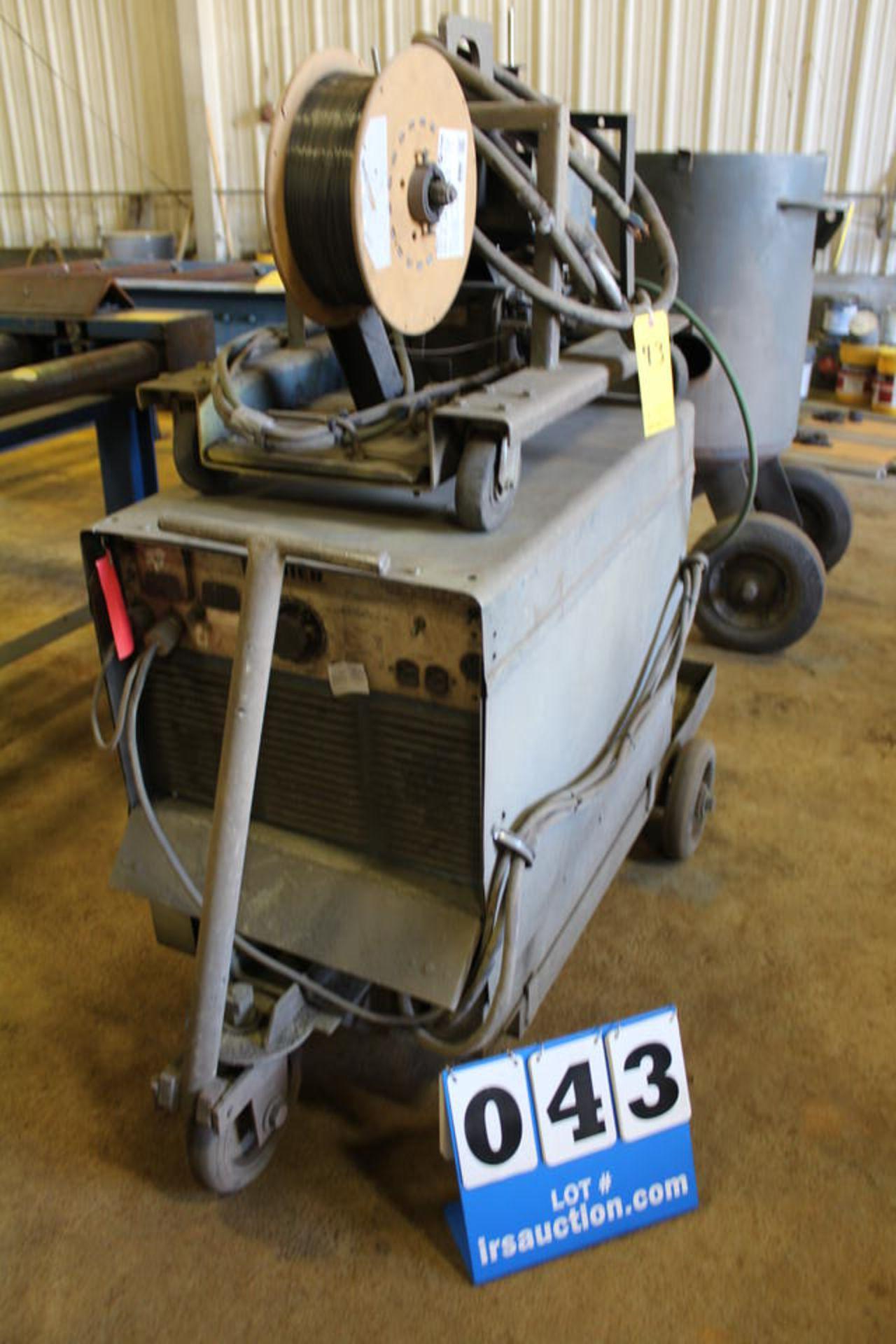 Lot 43 - MILLER MP-45E WELDING POWER SOURCE W/ MILLER JB-11 WIRE FEEDER (LOCATION: 4081 EASTSIDE HWY,