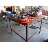 """Metal Table: 48"""" x 48"""" x 40"""" high"""