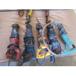 Five Reciprocating Saws, Various Makes, Models, Sizes
