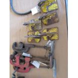 Four C-Clamps, Five Plate Clamps