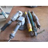 Five Pneumatic Grinders / Polishers, Various Sizes
