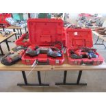 Three Milwaukee Portable Metal Cutting Bandsaws, 2 in Cases