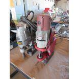 One DeWalt Portable Magnetic Base Drill Press, One Milwaukee Portable Magnetic Base Drill Press