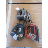 Three Jig Saws (Milwaukee, Porter Cable, Chicago Electric)