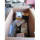 Box with Assorted New Wix Oil Filters