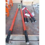 Three Bolt Cutters, Various Sizes