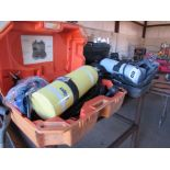 Two Air Tanks (Breathing Units) for Hazardous Operations, in Cases