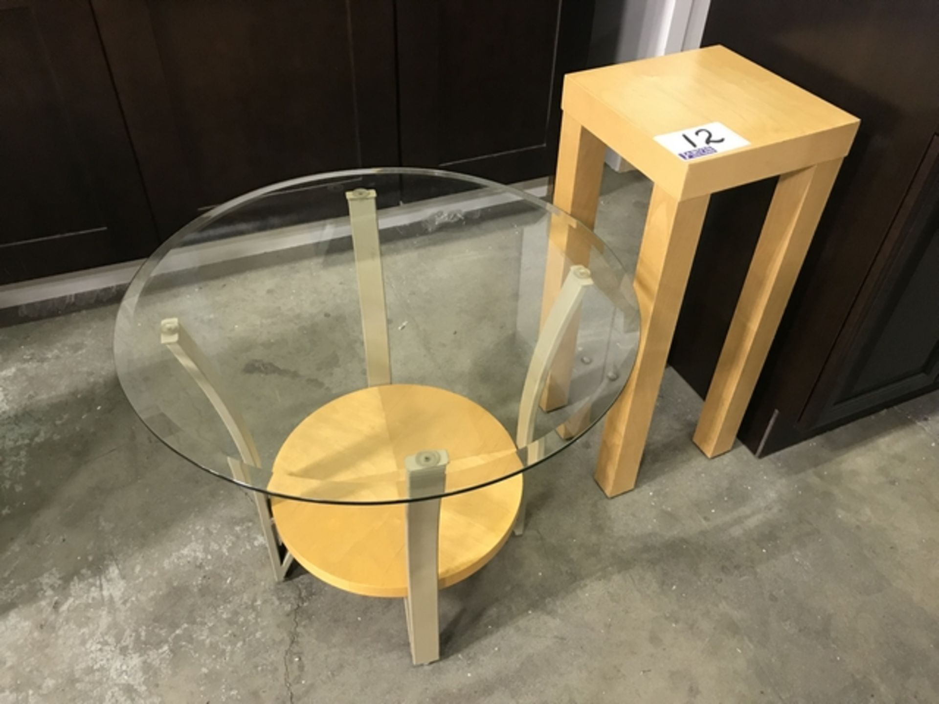 Lot 12 - 2 MAPLE SIDE TABLES