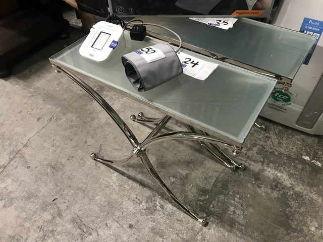 Lot 24 - GLASS SIDE TABLE
