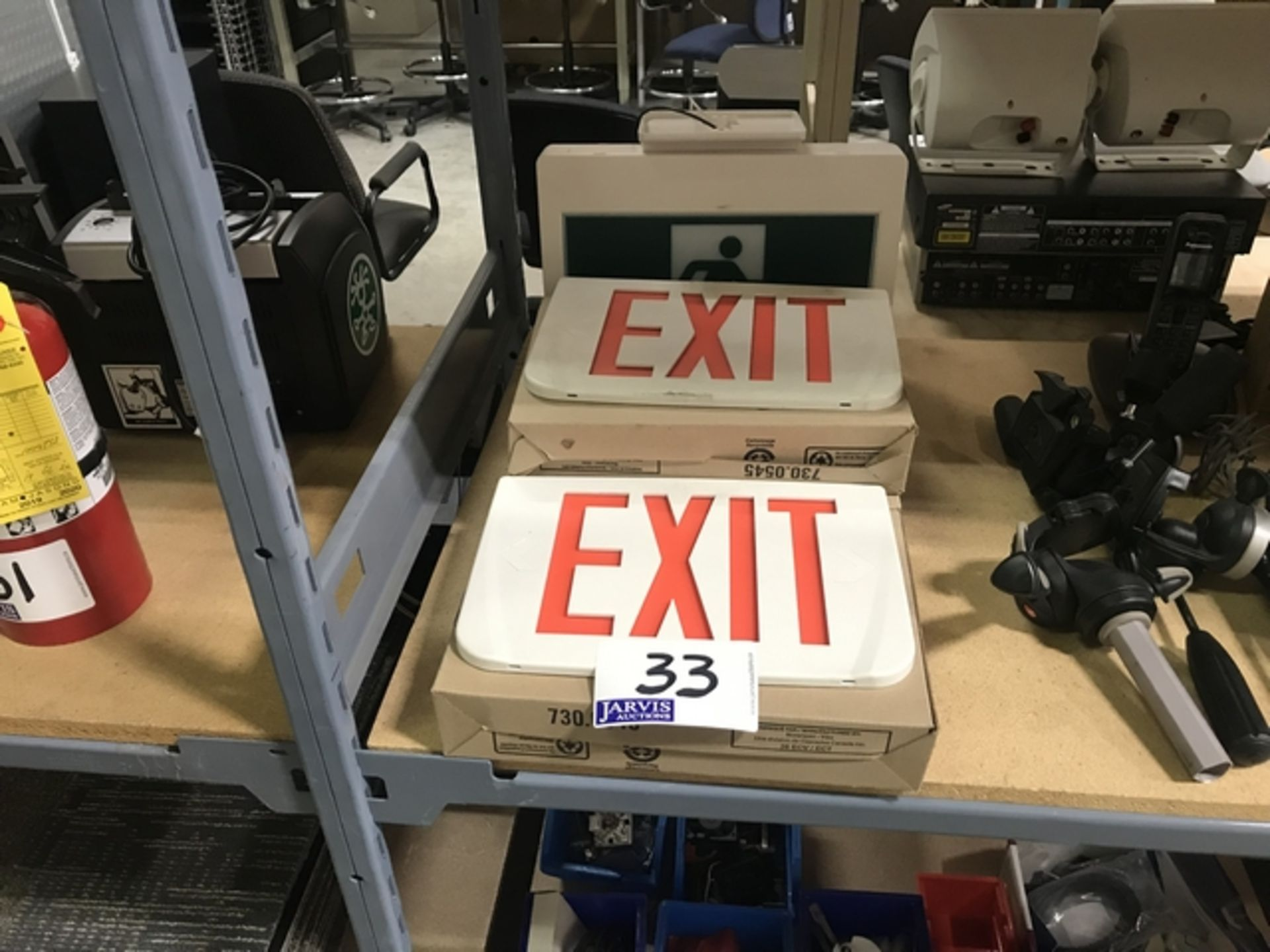 Lot 33 - EXIT SIGNS