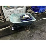 Lot 36 - WHEEL BARROW WITH CONTENTS