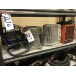 Lot 47 - SHOP LIGHT, FILTER & 2 HEATERS