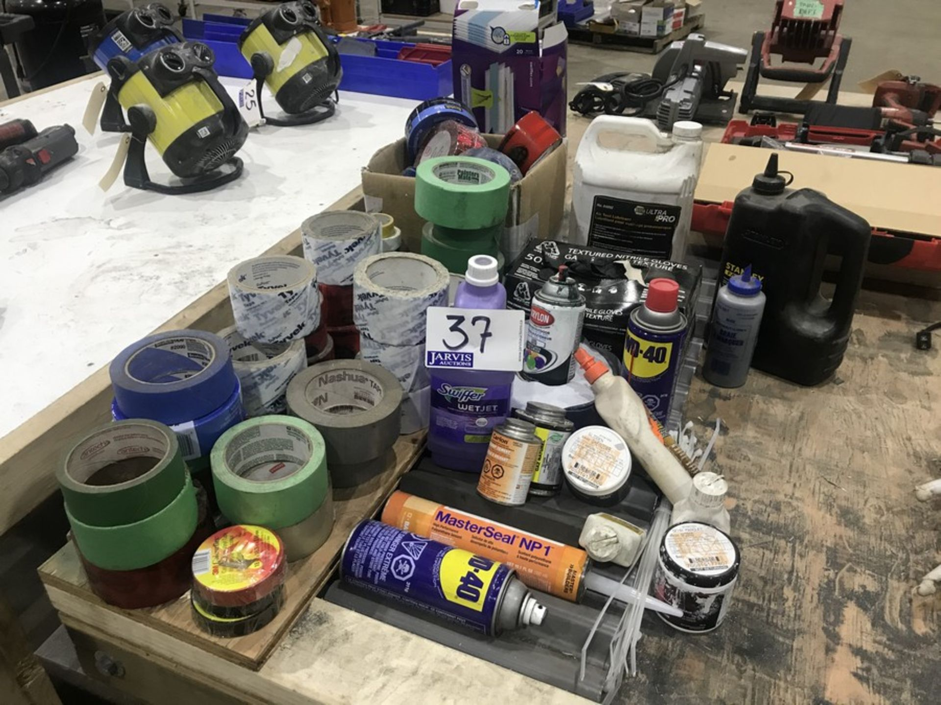 Lot 37 - TAPE & ASSORTED SUPPLIES