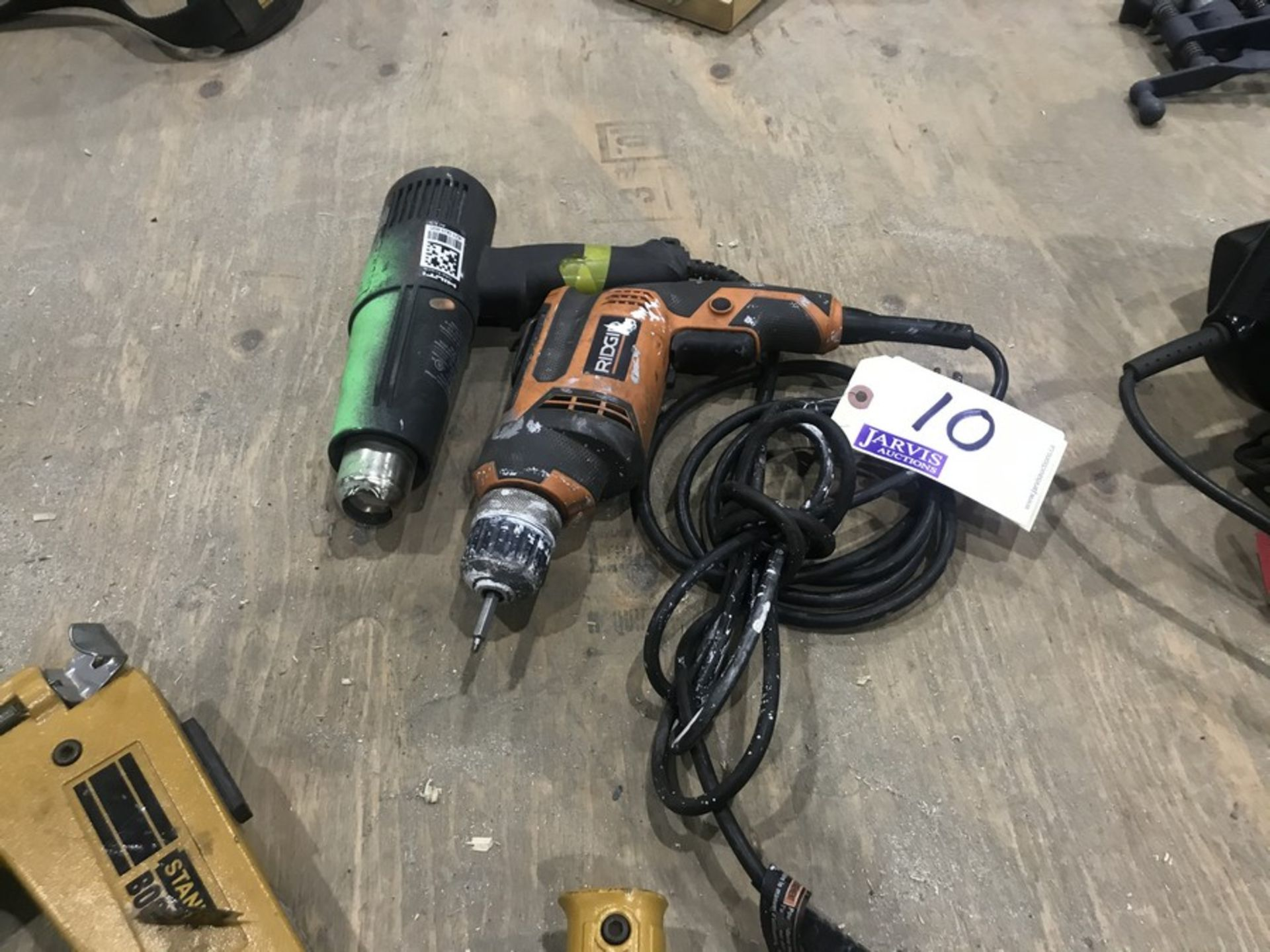 Lot 10 - DRILL & HEAT GUN