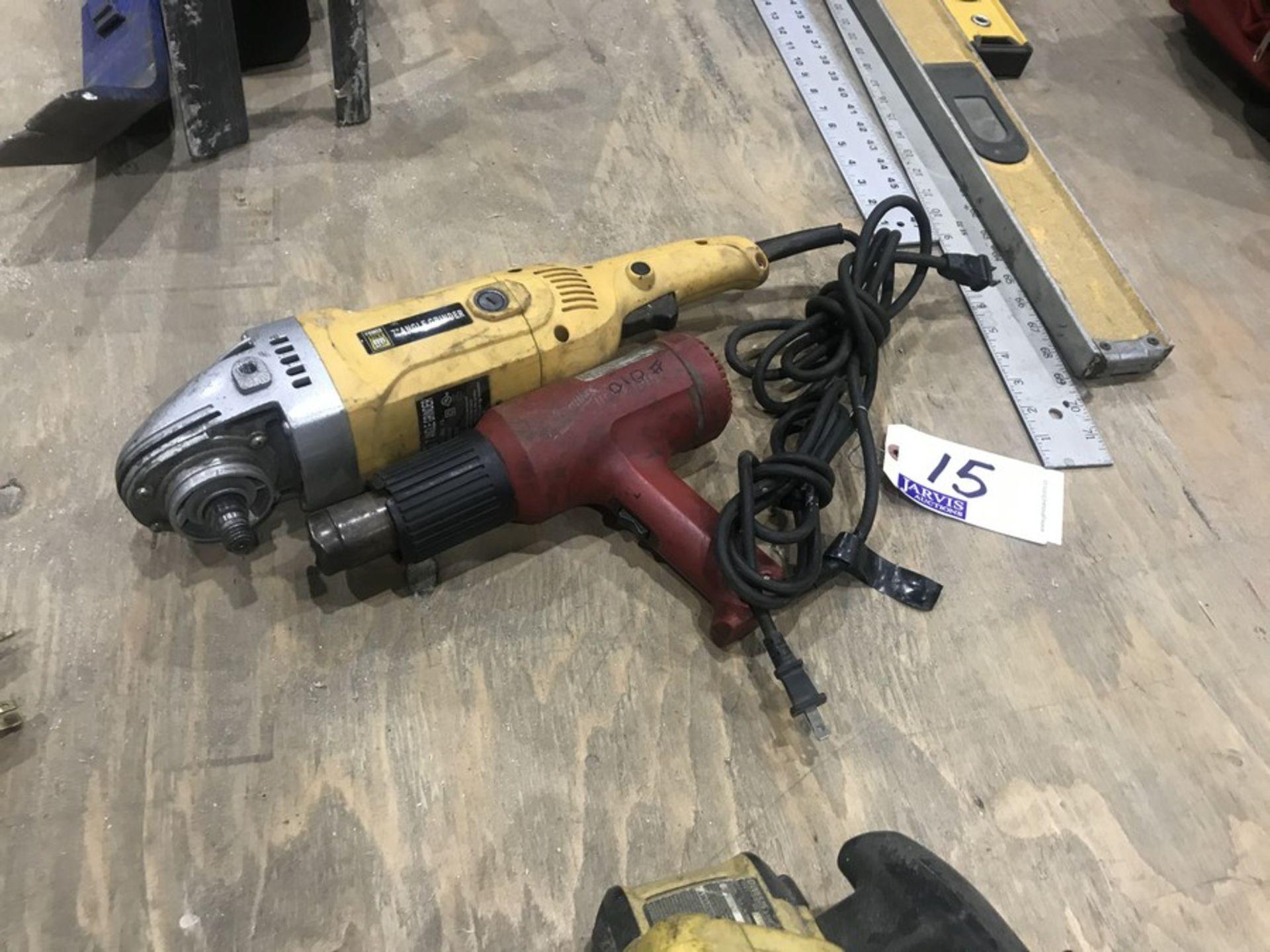 Lot 15 - GRINDER & HEAT GUN