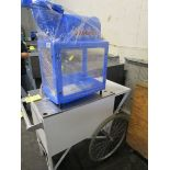 Gold King Sno King Ice Shaver Sno Cone Machine w/Cart & Crate