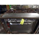Blodgett 4-Burner LP Range w/Oven