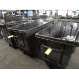 LOT (3) Rubbermaid Port. Dump Hoppers (Located in Palmer, MA)