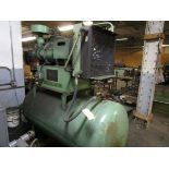 Sullair Tank Mounted Air Compressor, s/n 003-94426, 25 HP (Located in W. Springfield, MA)