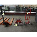 LOT (2) Hyd. Pallet Jack & (1) 2-Wheel Dolley (Located in Palmer, MA)