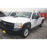 2012 CHEVY 4X4 PICKUP TRUCK, CREW CAB, FLEX FUEL, APPROXIMATELY 80,395 MILES, VIN: