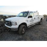 2006 FORD F-250 XL SUPER DUTY CREW CAB PICKUP TRUCK, 4-WHEEL DRIVE, WITH APPROXIMATELY 147,600