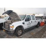 2009 FORD F-250 XL SUPER DUTY CREW CAB PICKUP TRUCK, AUTOMATIC, 4-WHEEL DRIVE, APPROXIMATELY 171,84
