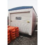 20' LONG CORRUGATED METAL STORAGE CONTAINER, WITH ROLL-UP DOOR [LOCATED @ 6 CANAL ROAD, PELHAM,