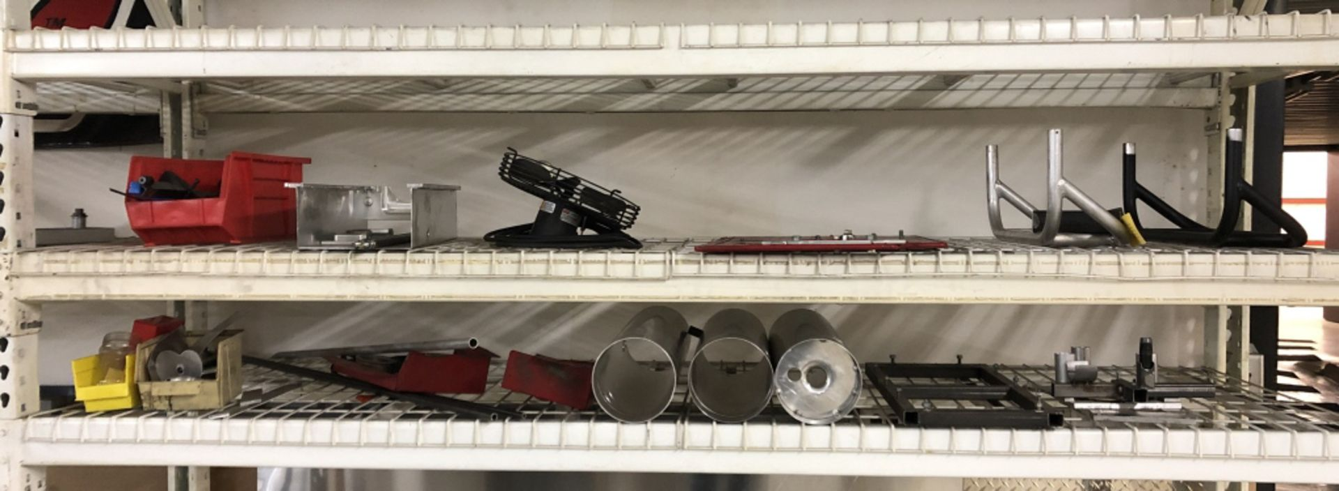 Lot 1004 - Shelf of Jigs for Engine Manufacturing and misc.