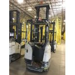 CROWN REACH TRUCK. Model #: RR5700. S/N: 1A433675. Hours (as of Oct 15, 2018): 959. Year: 2015. Mast