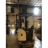 CROWN REACH TRUCK. Model #: RR5700. S/N: 1A459450. Hours (as of Oct 15, 2018): 4701. Year: 2016.