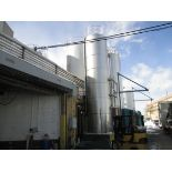 Cherry Burrell 10,000 Gal. Refrigerated Silo, with S/S Exterior, Vertical Agitation, Hydraulic Motor