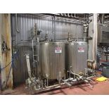 2-Tank Skid-Mounted Dual CIP System, System Includes (2) Pumps (1) Fristam & (1) Alfa Laval, (2)