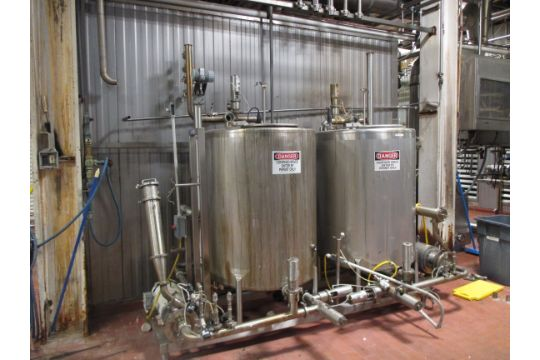 2-Tank Skid-Mounted Dual CIP System, System Includes (2