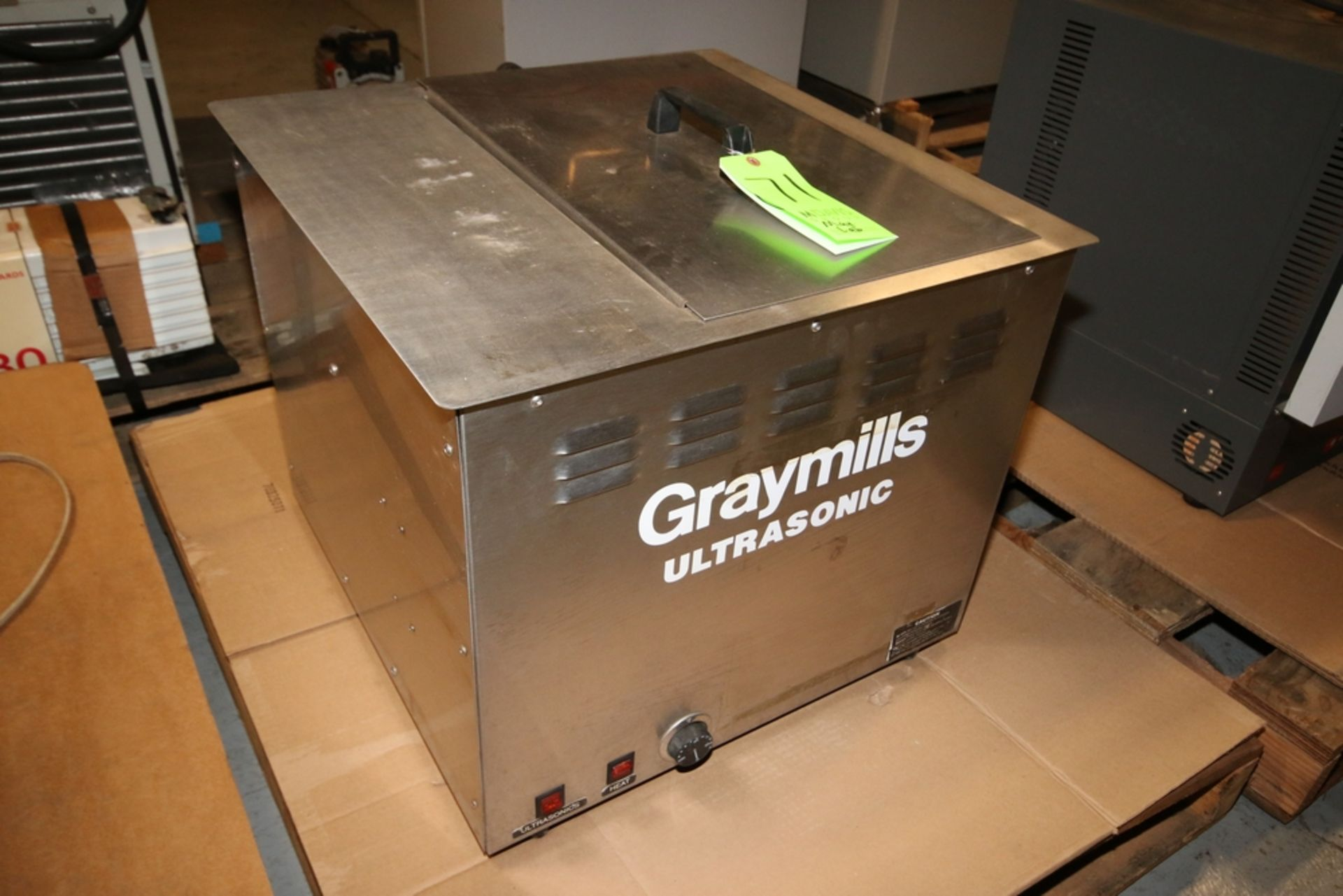 Lotto 71 - Graymills Ultrasonic S/S Water Bath, M/N 50-26-383-1, S/N 00409075, 120 Volts ***Located in MDG