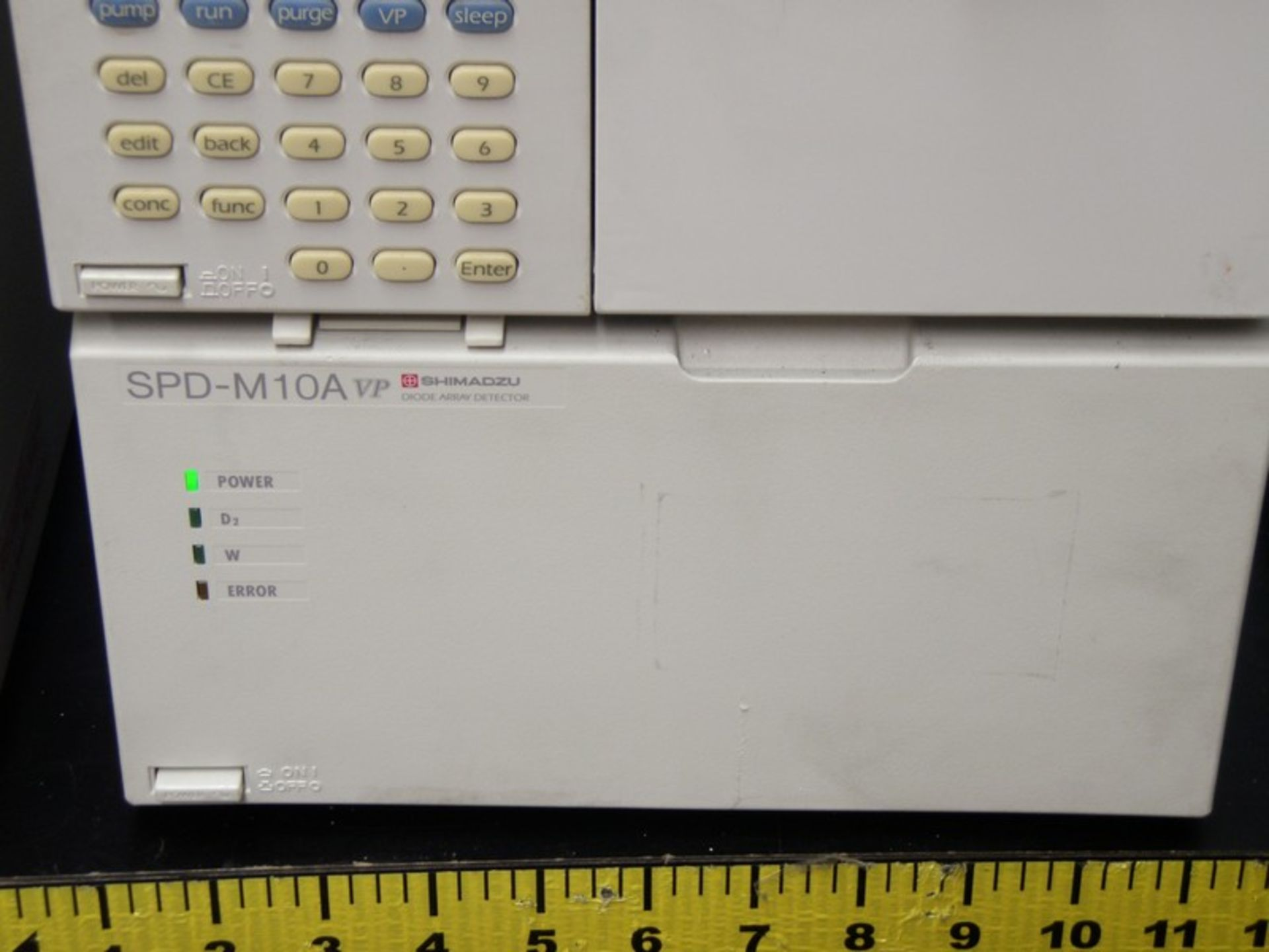 Lot 249 - Shimadzu LC-10 HPLC System Containing: CTO-10AC Column Oven, DGU-14A Degasser, SCL-10A System
